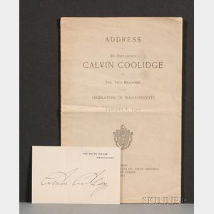 Coolidge, Calvin (1872-1933)