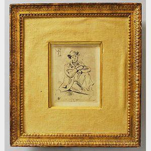 Paul Cézanne (French, 1839-1906)      Portrait du peintre Armand Guillaumin au pendu