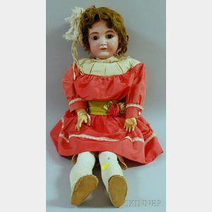 Large Kestner German Bisque Head Doll