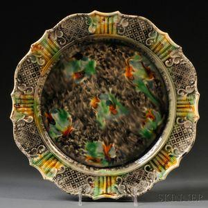Staffordshire Cream-colored Earthenware Platter