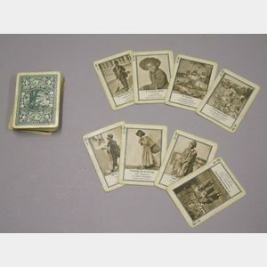 Deck of Fifty-two Black Character Photograph and Illustrated Game Playing Cards