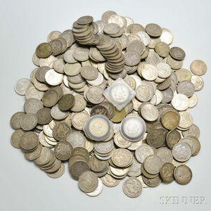 442 Assorted Morgan Dollars.