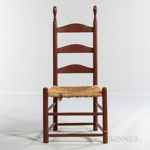 Shaker Red-painted Side Chair