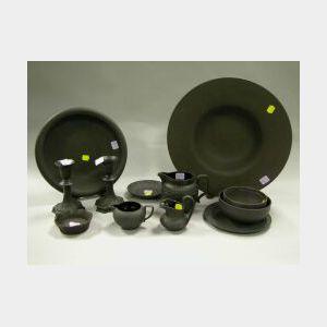 Thirteen Wedgwood Black Basalt Items