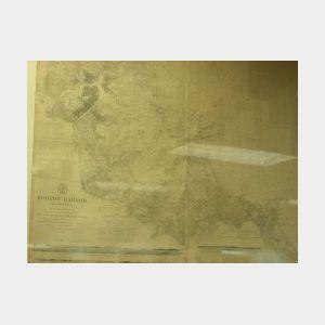 United States Coast and Geodetic Survey Trigonometrical Map of Boston Harbor