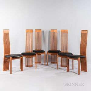 Six Costantini Pietro Mackintosh-inspired Side Chairs