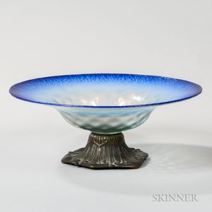 Louis C. Tiffany Furnaces Inc. Favrile Glass Pastel Bowl with Mount