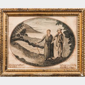 Warren Nixon (Framingham, Massachusetts, 1816)      To Herman's cave, thy feeble steps His fostering arm shall lead...