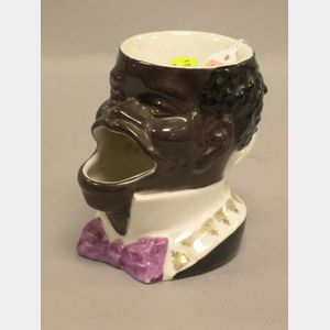 Black Character Porcelain Shaving Mug.
