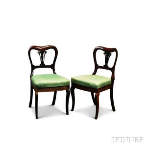Pair of William IV Carved Rosewood Side Chairs