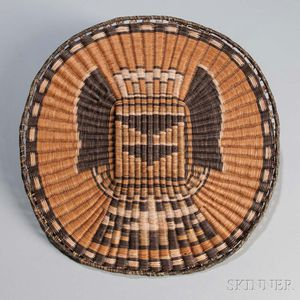 Hopi Katsina Wicker Plaque