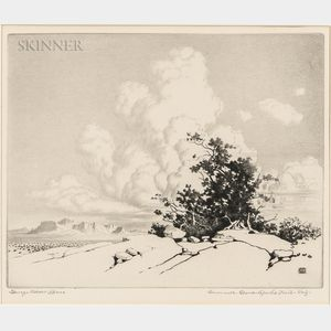 George Elbert Burr (American, 1859-1939)      Summer Clouds - Apache Trail - Arizona