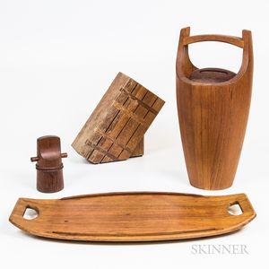 Four Pieces of Dansk Teak Tableware