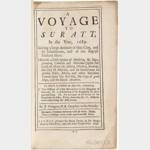 Ovington, John (1653-1731) A Voyage to Suratt, in the Year, 1689.