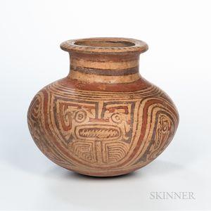 Cocle Polychrome Pottery Vessel