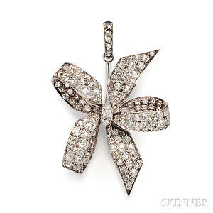 Antique Diamond Pendant/Brooch