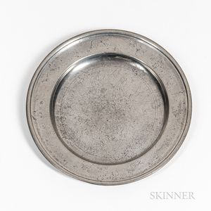Joseph Danforth Pewter Plate