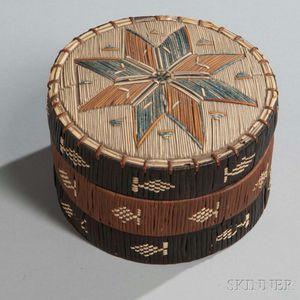 Micmac Quilled Birch Bark Box