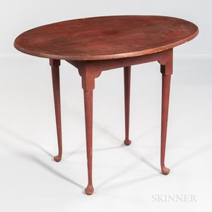 Queen Anne Oval-top Tea Table