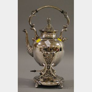 Late Victorian Silver Plated Hot Water Urn