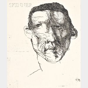 Leonard Baskin (American, 1922-2000)      Lot of Three Figures:  Prophetic Man/Prophetic Image