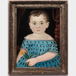 William Matthew Prior (Massachusetts/Maine, 1806-1873)      Portrait of a Young Girl