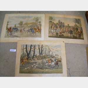 Five Mid-19th Century Hunting and Traveling Prints