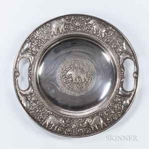 Southeast Asian Silver Tray