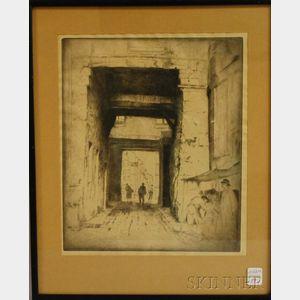 Bror Julius Olsson Nordfeldt (American, 1878-1955)      Through the City Gate.