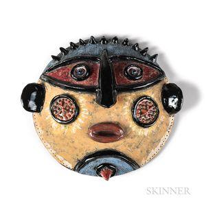 Louis Mendez (American, 1929-2012) Ceramic Aborigine Mask