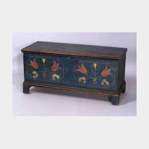 Paint Decorated Six Board Chest