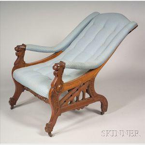 Aesthetic Movement Walnut Armchair
