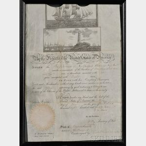 Adams, John Quincy (1767-1848) Ship's Passport, 3 June 1825.
