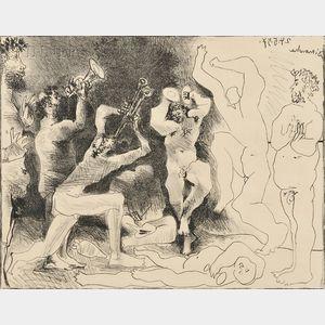Pablo Picasso (Spanish, 1881-1973)      La danse des faunes
