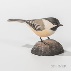 Jess Blackstone Carved and Painted Miniature Chickadee