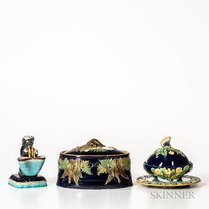 Three English Majolica Items