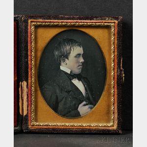 Ninth Plate Daguerreotype Profile Portrait of a Blind Boy