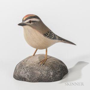 Jess Blackstone Carved and Painted Miniature Kinglet