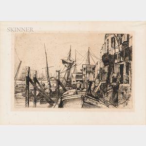 James Abbott McNeill Whistler (American, 1834-1903)      Limehouse