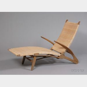 Sold for: $59,250 - Hans Wegner (1914-2007) Chaise Lounge