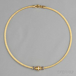 14kt Gold, Sapphire, and Diamond Necklace