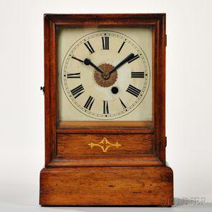 Winterhalder & Hofmeier Mahogany Cottage Clock with Alarm