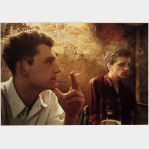 Nan Goldin (American, b. 1953)      Dieter and Wolfgang at the O-Bar, West Berlin