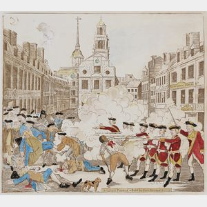 Bob Tomolillo (American, b. 1952)      Boston Massacre with Crispus Attucks