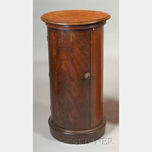 Continental Empire Walnut  Pedestal Cabinet