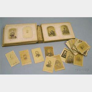 Album with a Collection of Civil War Era Cartes de Visite