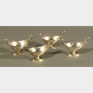 Set of Four Edward VII Silver Open Salts