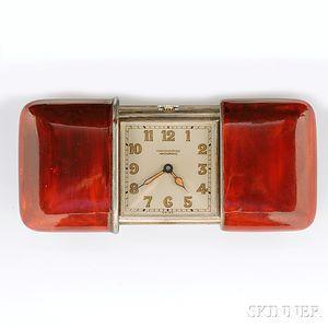 .935 Silver and Enamel Golf Watch, Movado