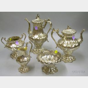 Five-Piece Reed & Barton Silver Plated Tea and Coffee Service