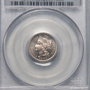 1883 Three Cent Nickel Trime, PCGS PR65CAM CAC.